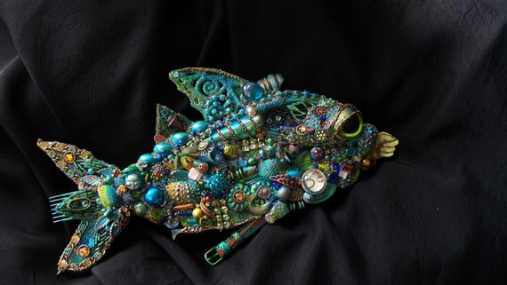 The Fantastic Bead Mosaics Fish Series The Blue Wahoo