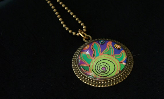 Green Ray of Sunshine Necklace
