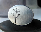 Silver Sapling ring - made to order