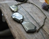 tumbled-- pyrite statement necklace
