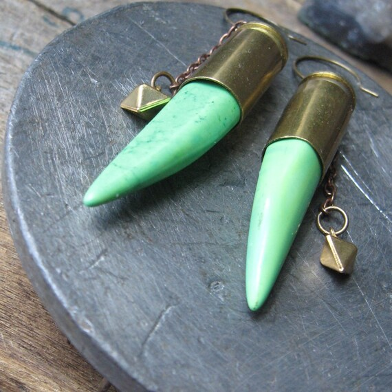 30% off sale-- python-- howlite spikes in bullet casings