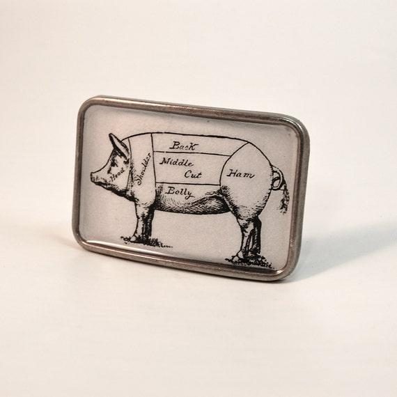 Pig Butcher Belt Buckle