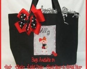 Boutique Personalized Monogrammed Cheer-Cheerleader-Cheerleading Tote Bag