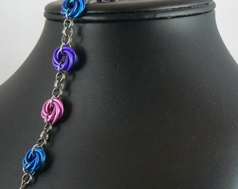 Bi Pride Moebius Bracelet v1
