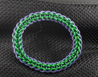 Arturas  - Green and Purple Full Persian Bangle Bracelet