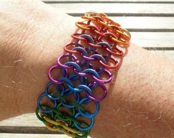 Progressive Rainbow Euro Stretch Bracelet