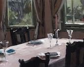 Art Print Country Interior - Bay Window and Crystal by David Lloyd