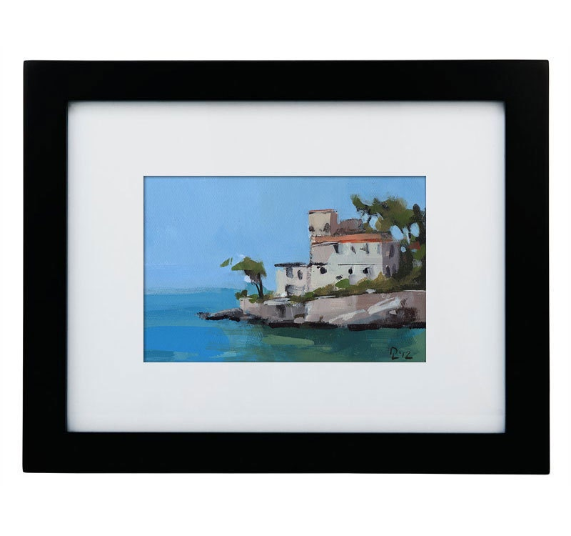 Original Painting Seascape Tuscany Landscape Ocean Sea Coast