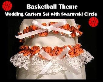 Sport basketball ball wedding garter garters keepsake toss prom party gift
