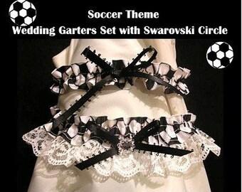 SPORT SOCCER Wedding GARTER 2PC GARTERS SET PROM TOSS BRIDE