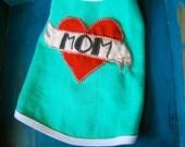 I heart Mom - Fleece Pet Vest - size Small