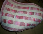 Quilted doll blanket pink