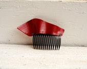 Red Carpet Comb from a Recycled Record