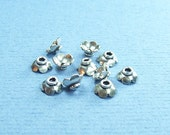 12 Pieces  8mm x 3mm Bali Sterling Silver Bead Caps