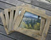 Barnwood PICTURE FRAME  Rustic Refined - for 8 x 10 inch photo or art
