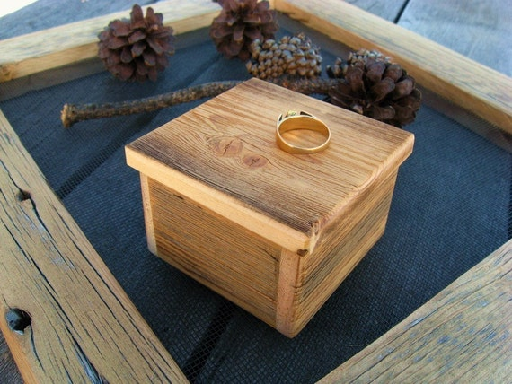 Rustic Ring BOX...from reclaimed wood