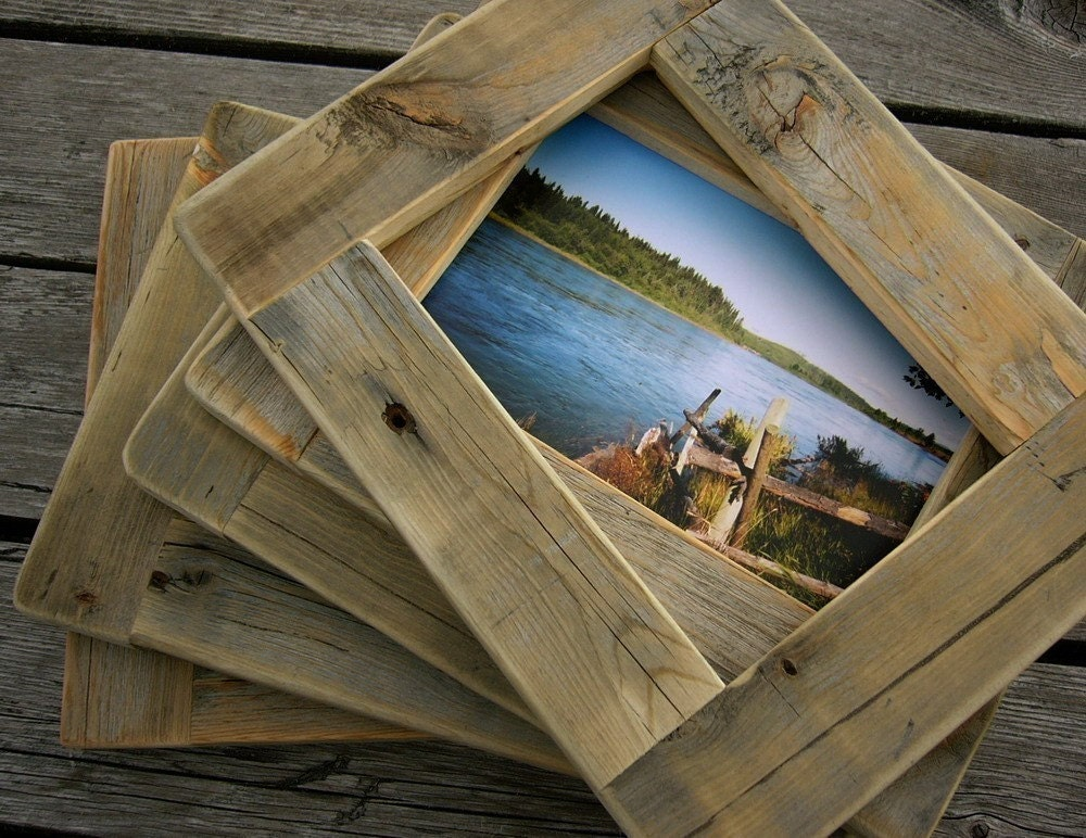 Rustic Antique Ivory Reclaimed Wood Frame. by ... |Rustic Wooden Picture Frame