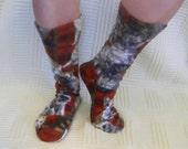 Brand New Cats Fleece Socks-Custom-Hand Made