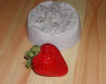 Goat Milk Strawberry Patchouli Oil Soap-Hand Made-All Natural-Buy 5 & Get 1 Free