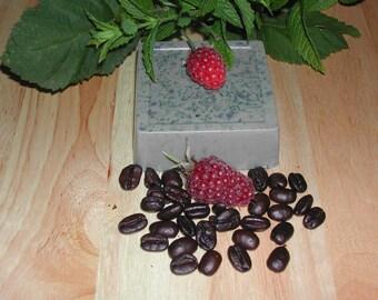 Goat Milk Raspberry Coffee Mint Soap-All Natural-Hand Made-Super Moisturizing! 5.5-6 oz