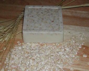 Goat Milk, Honey, Oatmeal Soap-Hand Made-Super Moisturizing 5.5-6.0 oz