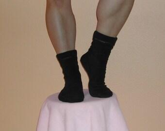 Brand New Black Fleece Socks-Custom Made!