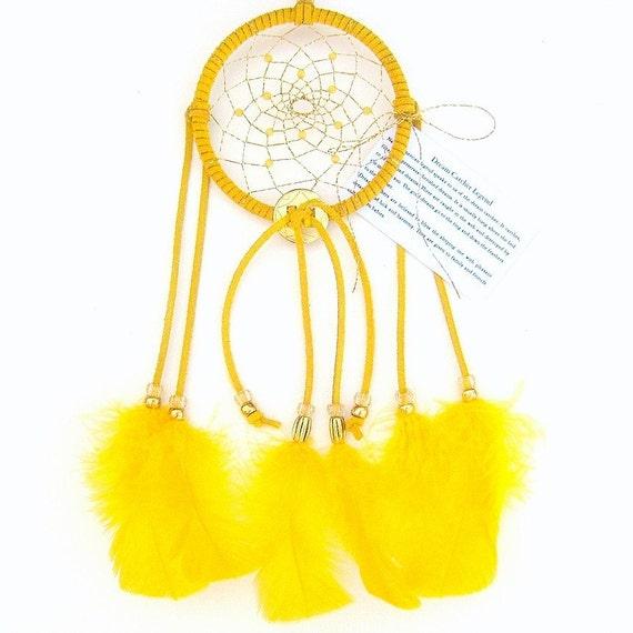 Gold Dream Catcher, Turkey Flat Feathers