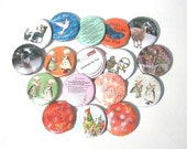 Two Crafty Knitting Pinback Buttons, 1.5 inch