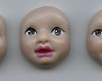 3 Polymer Detailed  Baby Face Cabs  Brown eyes BFCBR3