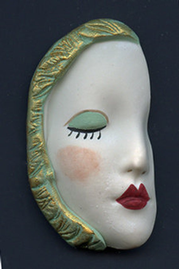 Polymer Clay  Detailed Textured  Face  Shard FPC 1