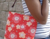 Umes and Dots on Coral Red  - Tote