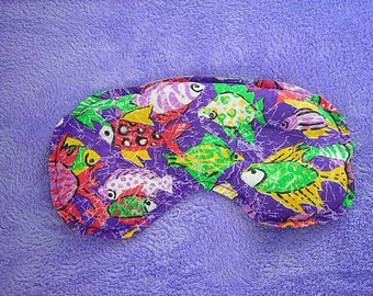 All Natural Sinus and Headache and Allergy Relief Mask - Colorful Fish Pattern