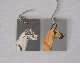 Great Dane Luggage ID Tags or Keychains - Dogs - Recycled