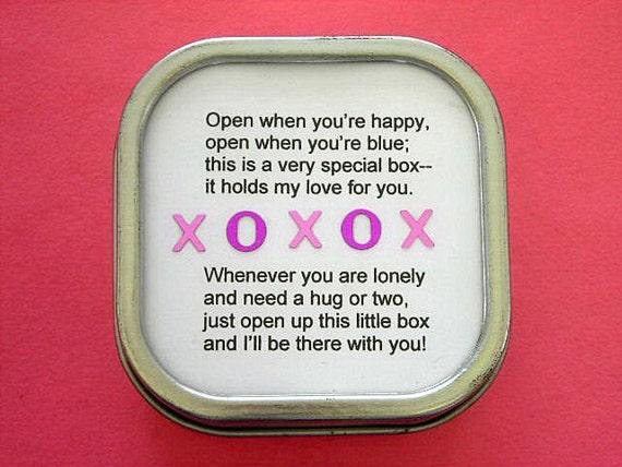 Box Of Love Poem : Hugs and kisses i love you box full of for children