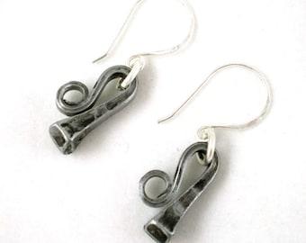 Horseshoe Nail Equestrian Earrings
