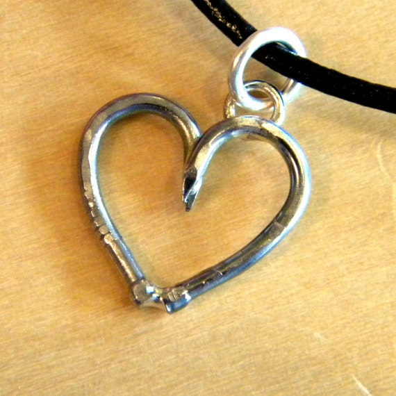 "Steel Heart Pendant ""Tough As Nails"" (small)"
