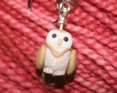Barn Owl Stitch Markers (parliament of 4)