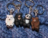 Bear Stitch Markers (sleuth of 4)
