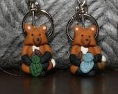 Knitting Fox Stitch Markers (set of 4)