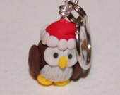 Christmas Owl Stitch Markers (Parliament of 4)