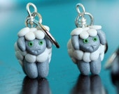 Grey Sheep Stitch Markers (flock of 4)