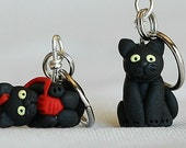 Black Cat Stitch Markers (Set of 4)