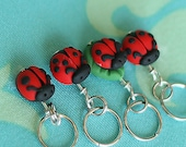 Ladybug Stitch Markers (set of 4)