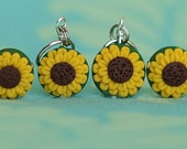 Sunflower Stitch Markers (set of 4)