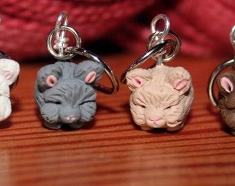 Angora Rabbit Stitch Markers (set of 4)