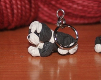 Bearded Collie Stitch Markers (set of 4)