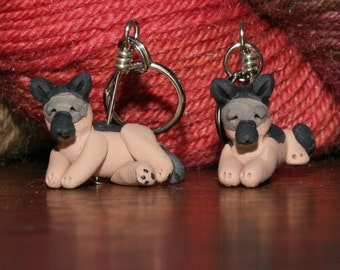German Shepherd Stitch Markers (set of 4)