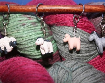 Farm Animal Stitch Markers (set of 4)