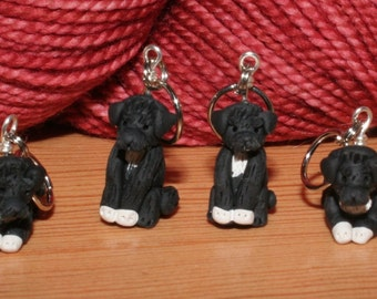 Portuguese Water Dog Stitch Markers (set of 4)