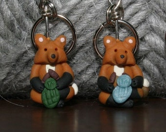 Knitting Fox Stitch Markers (set of 4)
